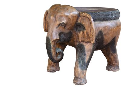 Elephant made of wooden with handicraft. Stock Photo - 9818154