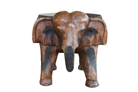 Elephant made of wooden with handicraft. Stock Photo - 9818153