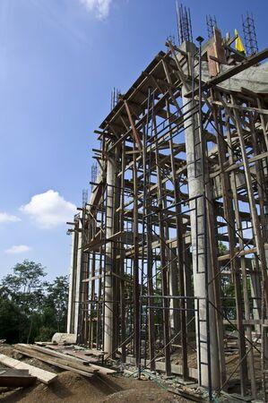 Avant de chantiers de construction sur Wat (Temple) en Tha�lande. �ditoriale