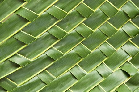 L'art traditionnel artisanat de style tha�landais avec des feuilles de noix de coco. Banque d'images
