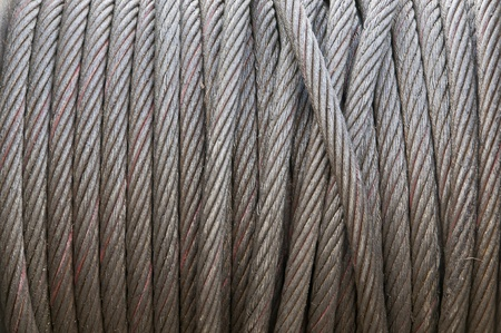 steel cable: texture of heavy duty steel wire cable Stock Photo