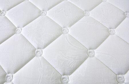 D�tail et le mod�le de tissu blanc �l�gant avec boutons Banque d'images