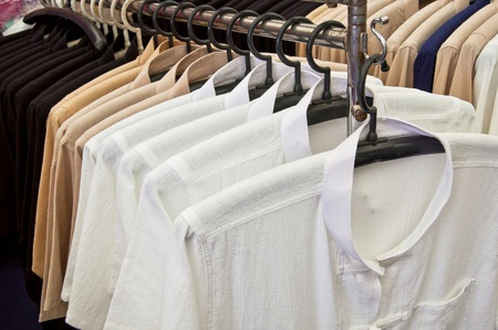 Native thai style cotton clothing in a row