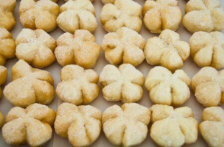 rang�e de pain de fantaisie avec surface de sucre Banque d'images
