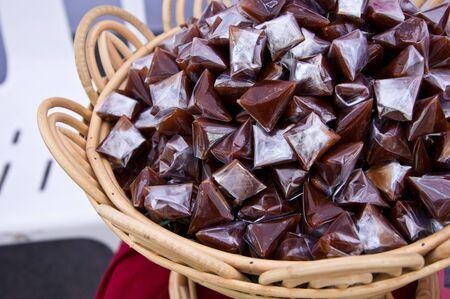 Bown thai sticky dessert  photo