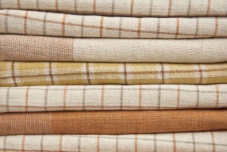 Tas de tissu marron en coton