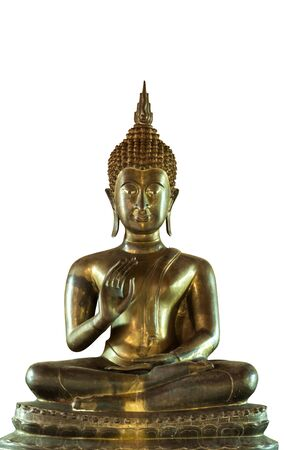Beautiful brass buddha stature in Lampang, Thailand