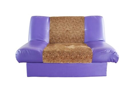 modern  purple leather sofa