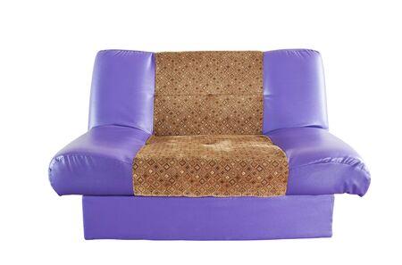 moderne canap� en cuir violet Banque d'images