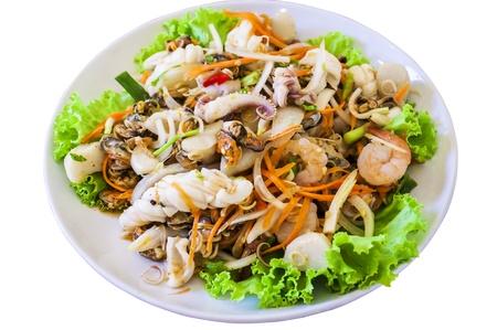 thai style salad seafood photo