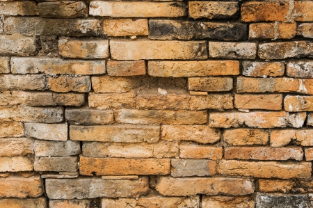Pattern and detail of old brick wall texture Stock Photo