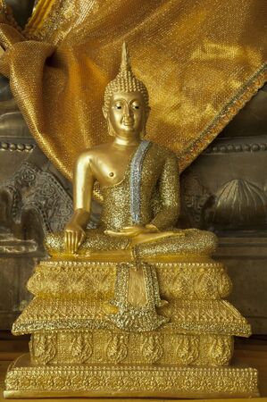 Beautiful golden buddha stature in Thailand