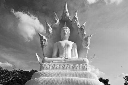 idolatry: Giant sculpture Buddha  Stock Photo