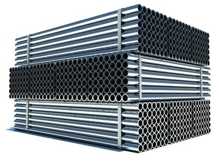 steel industry: Metal pipes. Steel industry Stock Photo