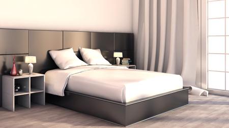 color in: De color blanco y negro en el dormitorio