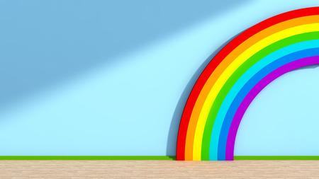 babyroom: Playroom with rainbow