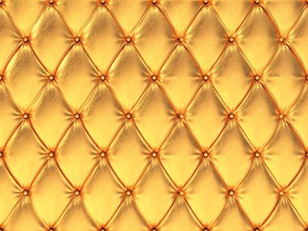 upholstery: Seamless golden leather upholstery pattern, 3d illustration