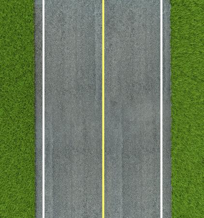 아스팔트 도로 질감, 노란색과 도로에 흰색 선 스톡 콘텐츠