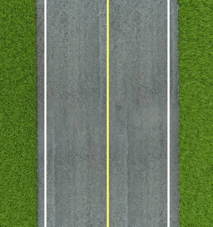 Asphalt road texture,yellow and white line on road