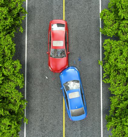 Accidente en la carretera Foto de archivo - 40585100