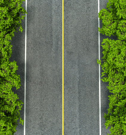 Asphalt road texture,yellow and white line on road 版權商用圖片 - 40585101