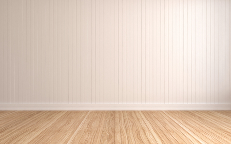 White wall with vertical stripes. 3d illustration