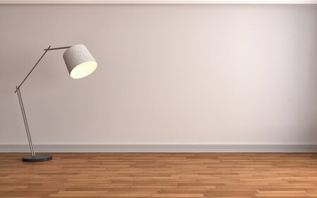 empty interior: empty interior with lamp included. 3d illustration