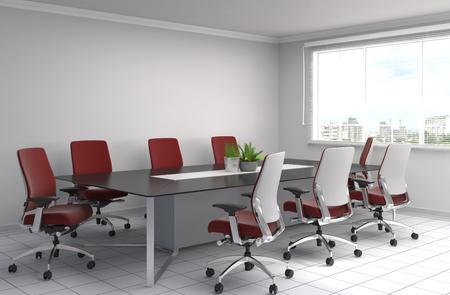 partitions: Office interior. 3D illustration