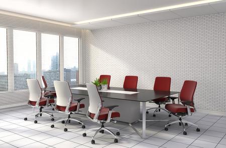 muebles de oficina: entre la oficina. ilustración 3D