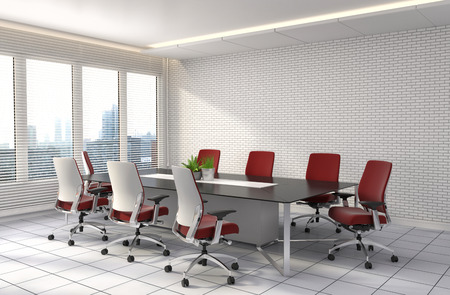 modern business: Office interior. 3D illustration