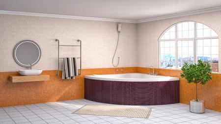 bathroom interior: Bathroom interior. 3D illustration