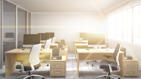 partitions: Office interior. 3D illustration