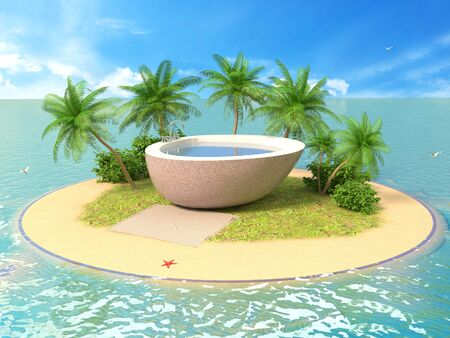 The concept of vacation. 3d illustration Stock Photo