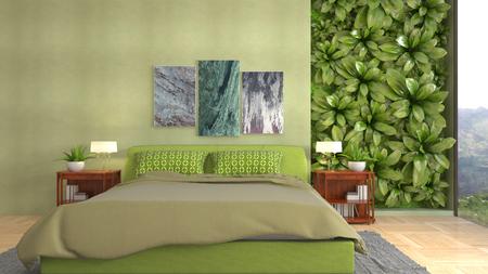 Bedroom interior. 3d illustration Reklamní fotografie - 121500247