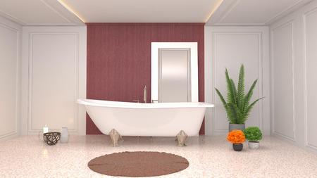 Bathroom interior. 3D illustration Stock fotó