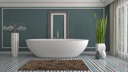Bathroom interior. 3D illustration