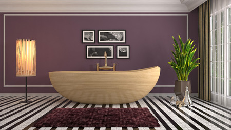 Bathroom interior. 3D illustration