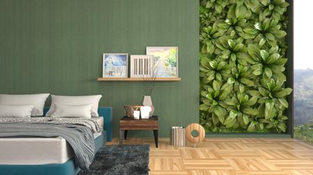 Bedroom interior. 3d illustration Reklamní fotografie - 122612302