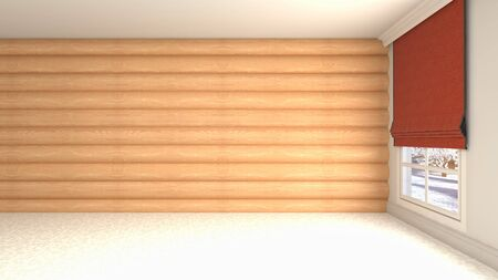 Empty interior with window. 3d illustration. Standard-Bild - 131495643
