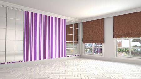 Empty interior with window. 3d illustration. Фото со стока - 128725955