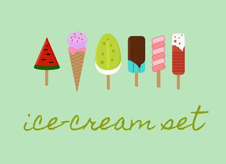 Ice cream icons set. Ice cream isolated vector illustration. Illustration
