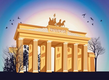 west gate: Brandenburg gate