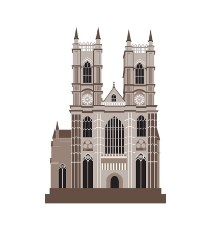 Catholic Cathedral Vector Illustration