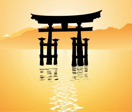 shrine: heritage shrine in Miyajima, Japan