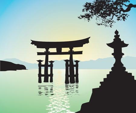 japanese temple: japanese style gate