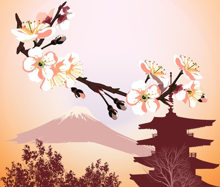 japanese temple: Japanese symbols