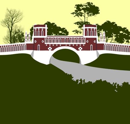 tsaritsino: Moscow  Tsaritsino palace  Bridge
