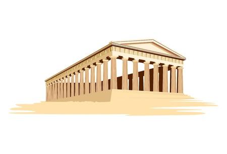 templo romano: antiguo templo majestuoso en Grecia