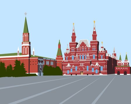 Red Square Moscow Illustration