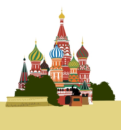 moscow russia: St  Basil Illustration